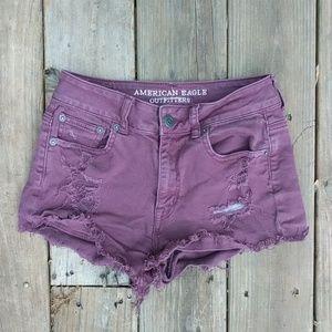 American Eagle STRETCH Distressed Denim Shorts 2 !